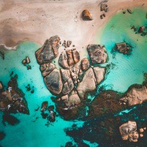 Denmark Beach Drone Photo
