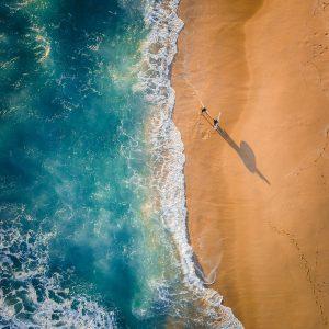 Surfers Drone Photo